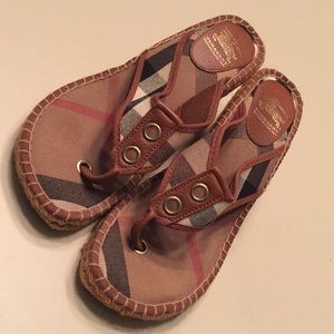 Burberry Wedged Sandals